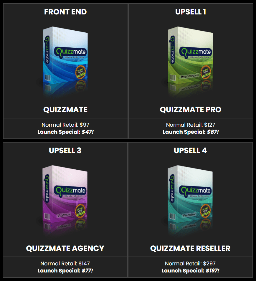 Quizzmate price & otos